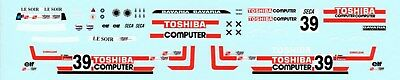 BMW 635 Toshiba Spa 1986 Decal 1:43