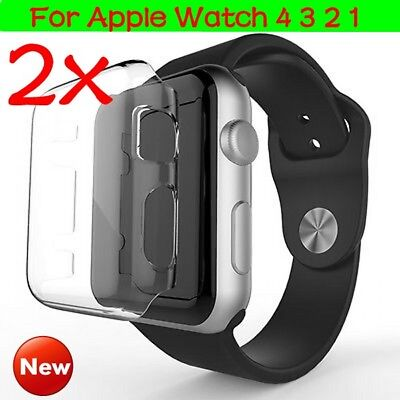 For Apple Watch Series 1 2 3 4 Clear Strong HARD TPU Case Cover Screen Protector