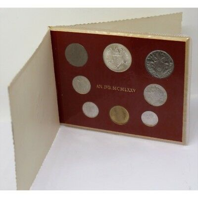 1974 Vatican Vatican City Divisional Year Santo Coins Set Fdc Mf22083