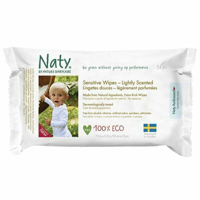 Nature Baby Sensitive Wipes Lightly Scented 390g
