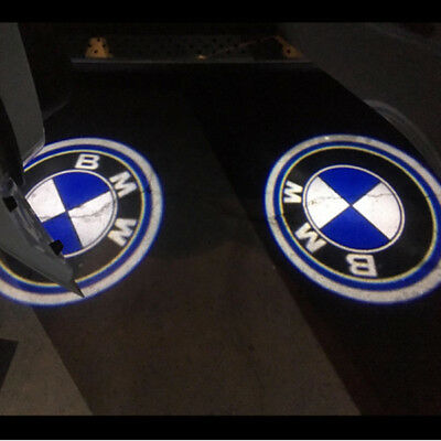 2x Ghost LED Door Step Courtesy Shadow Laser Light For BMW Logo Projector Emblem