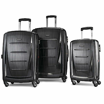 New Samsonite Winfield 2 Fashion 3 Piece Spinner Set Lock - Charcoal 56847-1174