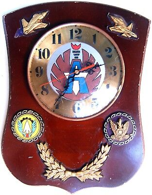 Original MILITARY WALL CLOCK Israel AIRFORCE Fighters SQUADRON Emblems IDF ZAHAL