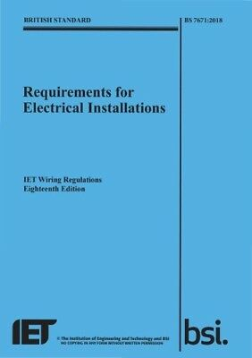 РDF| The IET 18th Edition Wiring Regulation Book - BS 7671:2018 Electrical Regs