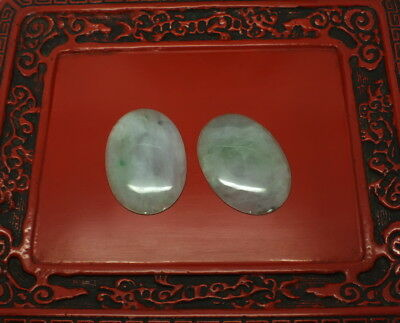 Jadeite Lot Of 2 large pendants plaques - very large and beautiful - 200ct