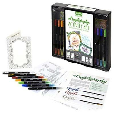 ❤ Crayola Beginner Hand Lettering Kit W/ Tutorials Easier Than Calligraphy 45Pcs