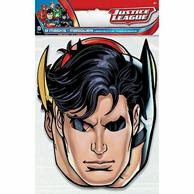 ❤ Justice League Party Masks 8Ct Unique Secure Fit ❤ New