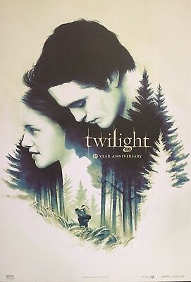 2018 TWILIGHT SAGA movie ART poster - 10 Year ANNIVERSARY Bella & Edward