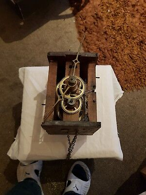 Antique postmans alarm clock movement for spares/repair