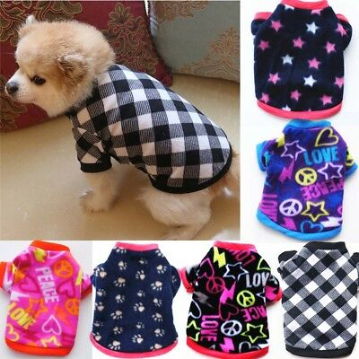 Pet Puppy Clothes Sweater Chihuahua Small Dog Coat Jacket Fleece Soft Warm