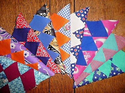 Vintage Lot of 9 LONE STAR Quilt Blocks  c.1930-40's