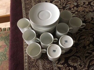 Thomas China Platinum coffee cups and saucers