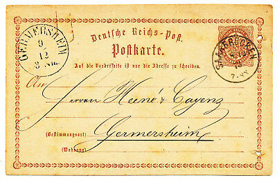 Germany Reich Postal Cards # P 1, P 2  7 Copies (1873-1875)
