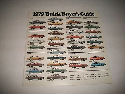 1979 Buick Full Line Sales Brochure Cdn Market Issue Riviera Regal Electra