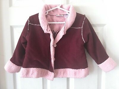 2062750d TOMMY HILFIGER Toddler Girl's Pink Coat Jacket Size 4/4T Snap Front Quilted.