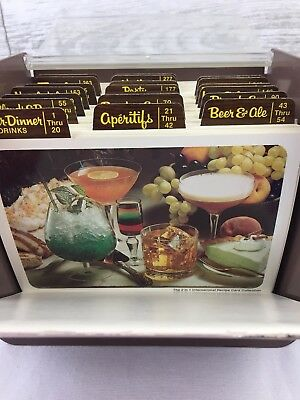 The 2 in 1 International Recipe Card Collection MIXED DRINKS Box Vintage Bar
