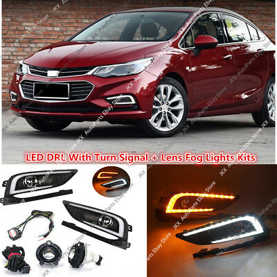 LED Daytime Running Light With Yellow Signal For Chevrolet Cruze 2016 2017 2018