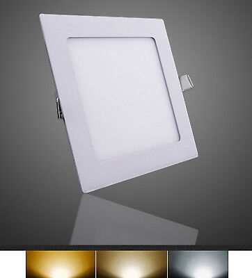 Downlight Panel LED Empotral cuadrado 12W 3000K 4000K 6000K Envio Urgente Gratis
