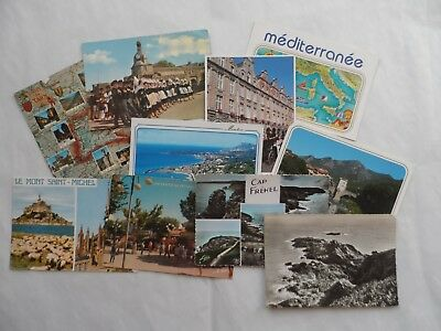 Job Lot Collection 10 Old Postcards mixed France French Topo