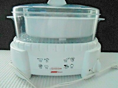 Sunbeam food steamer/rice cooker preowned in box.