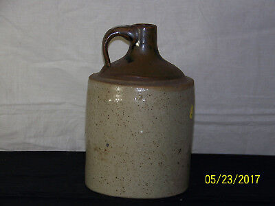Antique Americana c1800's Salt Glazed Stoneware Crock Jug
