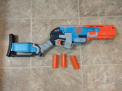 Nerf Zombie Strike Sledgefire Blaster With 3 Shells and Darts