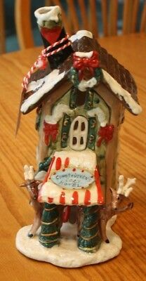 Sweet New Blue Sky Clayworks Reindeer Christmas Comet Vixen Cozy Hotel T Light