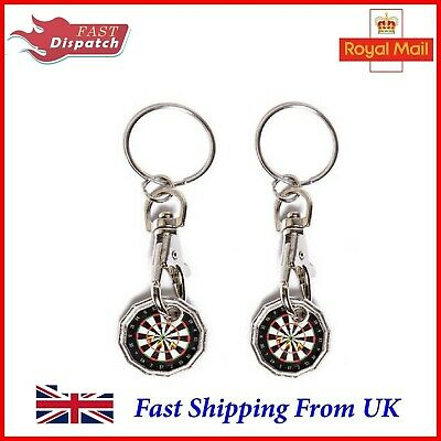 2X DARTS Trolley Token New Shape Pound £1Coin Keyring Shopping Trolley XMAS Gift