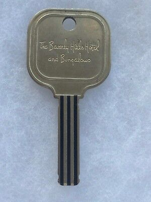Vintage The Beverly Hills Hotel and Bungalows Room Key