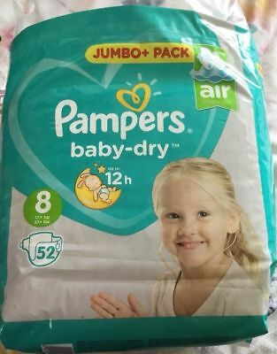 New Pampers Baby Dry Size 8 (UK) Samples (3)
