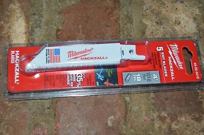 "Milwaukee 49-00-5418 M12 Hackzall  4"" EMT Cutting Blades  (5 Pack)"