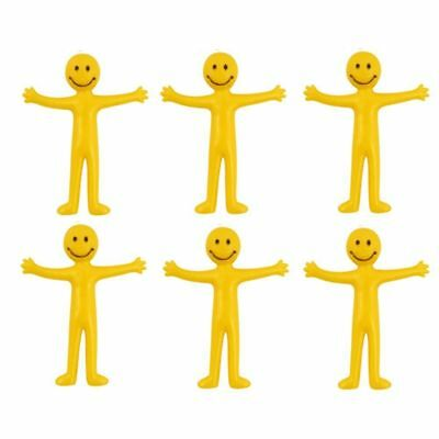 24 Stretchy Smiley Men Kids Party Bag Fillers Birthday Celebrations Pinata