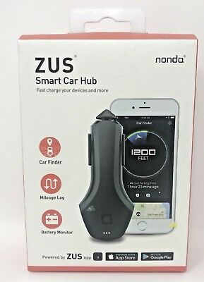 NONDA Zus Smart Car Hub Best USB Car Charger & Smart Car Locator