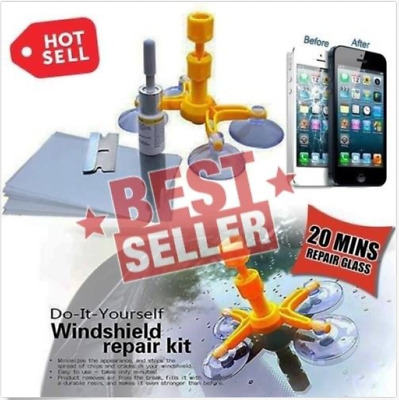 This Magic Repair Kit Can Repair Cracked Phone Screen, Windshield and Any Glass