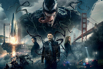 "Venom Spiderman Marvel Movie 36"" x 24"" Large Wall Poster Print Comic Decor"