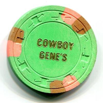 Henderson Nv COWBOY GENE'S $25 Casino Chip 1979 1st issue CR#N2497 Low Book $100