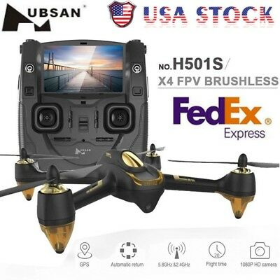Hubsan H501S X4 5.8G FPV Brushless With 1080P HD Cam GPS RC Drone Quadcopter RTF