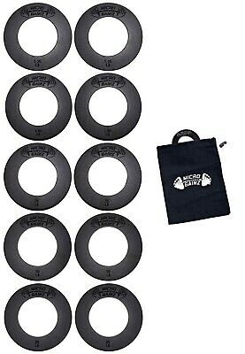 Micro Gainz 2.0 Olympic Fractional Weight Set of .25LB -1.25LB Plates w/ Bag