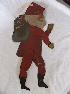Vintage Metal Shadow Dancer Santa Signed by Edna Oar Young American Folk Art