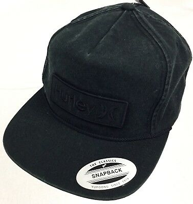 a2a04d991be ... where can i buy new hurley corp wash faded black adjustable snapback  skate surf hat cap
