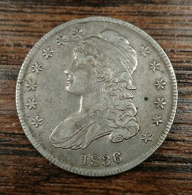 1836 Capped Bust Half Dollar XF Good Originality