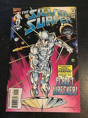 Silver Surfer#104 Incredible Condition 9.0(1995) Grindberg Art, Planet Wrecker!