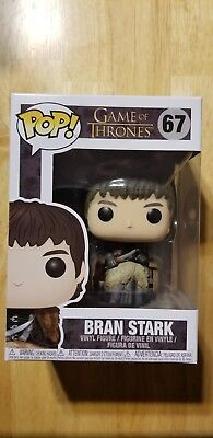 Funko Pop! Television: HBO Game Of Thrones Bran Stark in chair 67 DAMAGED BOX