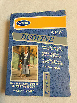 Vintage SCHOLL Duofine CLASS III THIGH TIGHTS COMPRESSION HOSIERY SAND SIZE S
