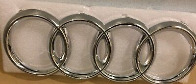 New Audi Front Grille Chrome Badge Rings Logo Emblem TT A3 A4 A5 A6 Sline 273x94