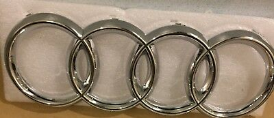 New Chrome Front Grille Badge Rings Logo Emblem Audi A3 A4 A5 A6 Sline 273x94