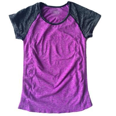 Women Dry Quick Sweat Running Sport Fitness T-shirts Yoga Sleeve Athletic Tops