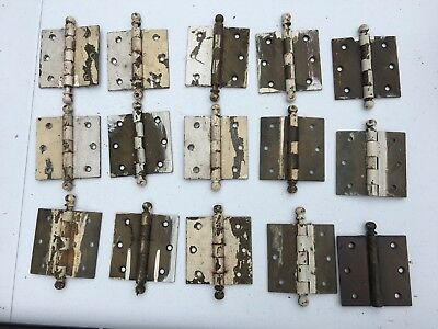 Vintage DOOR Hinges Bronze Hardware LOT - lot of vintage hinges see pictures
