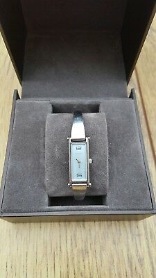 95abc6bd678 Ladies Gucci 1500L stainless steel swiss made watch. Adjustable bangle blue  face