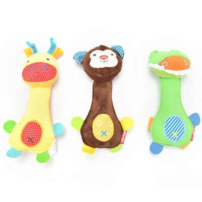 Pet Puppy Dog Cat Chew Squeaker Squeaky Sound Plush Cartoon Interactive Toy PDQ